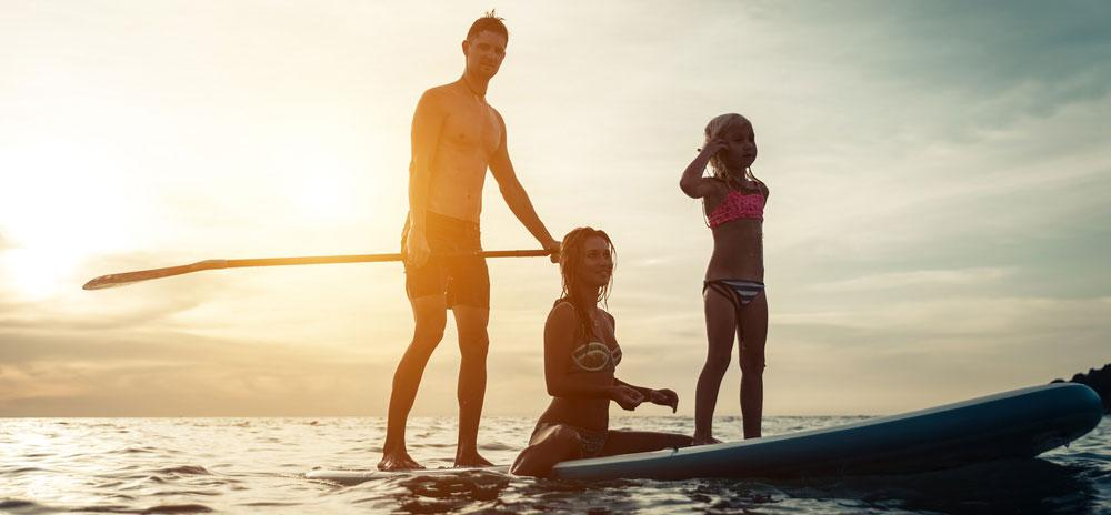 The whole family can have fun on a Hawaiian paddle boarding adventure