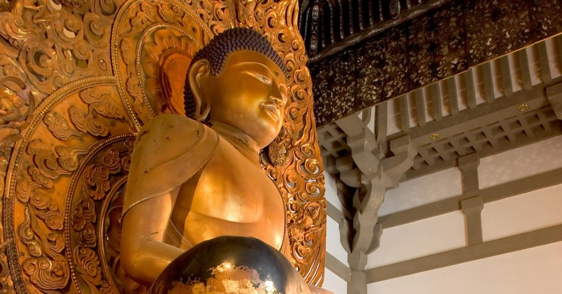 View the Amida Buddha, which represents infinite life and light