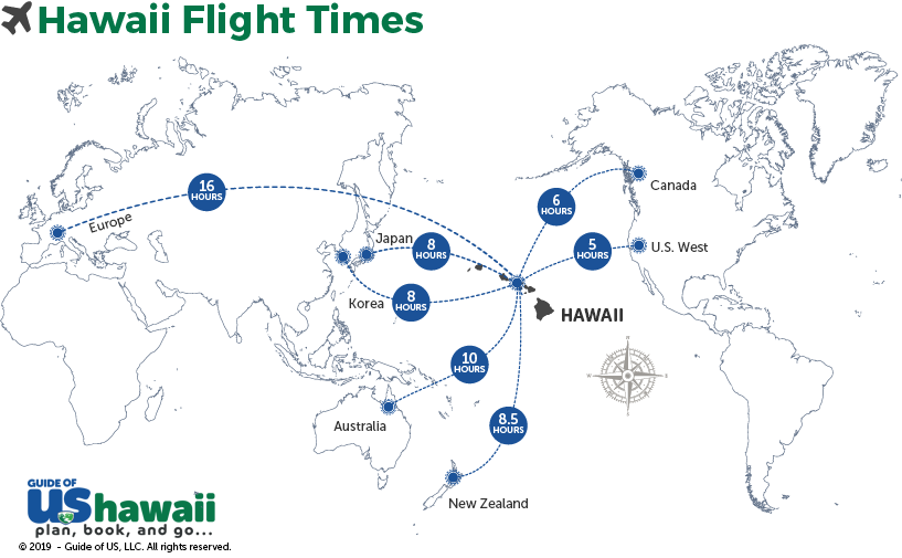 Hawaii Flight Times