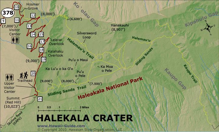 Haleakala Summit Trails Map Amp Directions