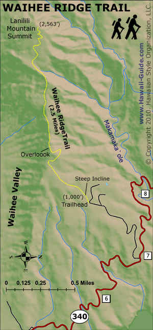 Waihee Ridge Trail map